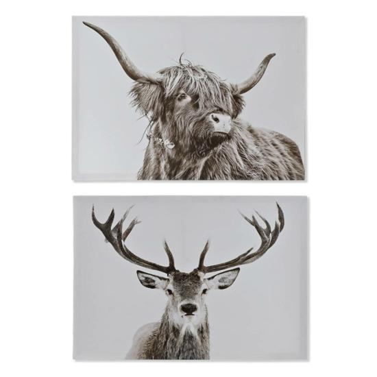 Kép vászon mdf 70x1,8x50 állat 2 féle