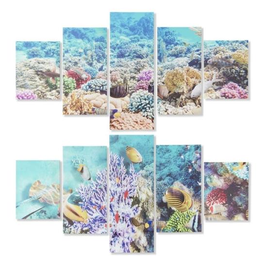 Kép szett 5db-os vászon fenyő 150x1,8x80 oceán 2 féle