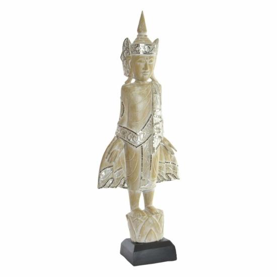 Figura fa 37x18x100 istennő vésett barna