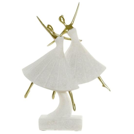 Figura műgyanta 26x9x34,7 táncos kvarz fehér