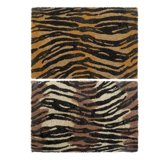 Lábtörlő kókuszrost 60x40x1,5 tigris 2 féle