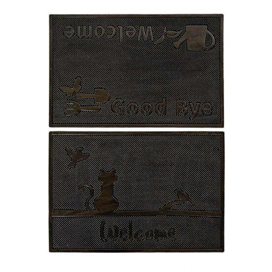 Lábtörlő gumi 60x40 fekete 2 féle