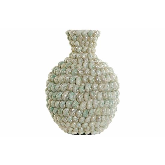 Váza bambusz csiga 22x22x32 természetes