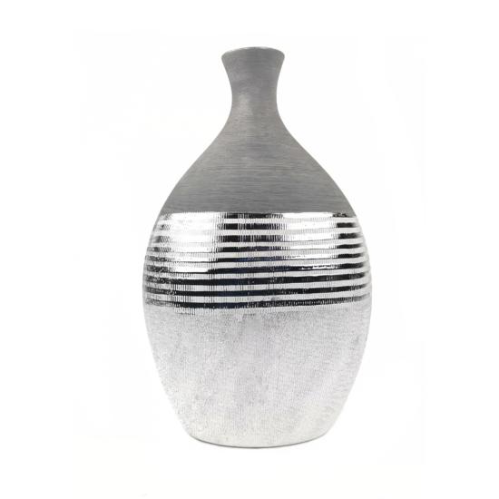 ezüst kerámia váza