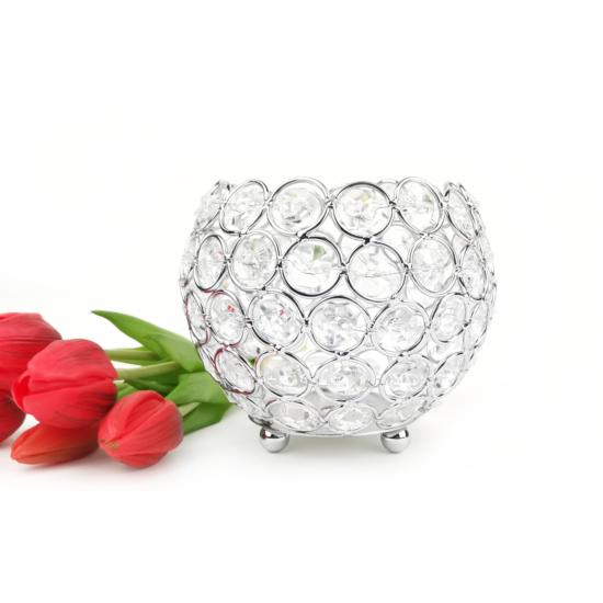 kristály mécsestartó gömb