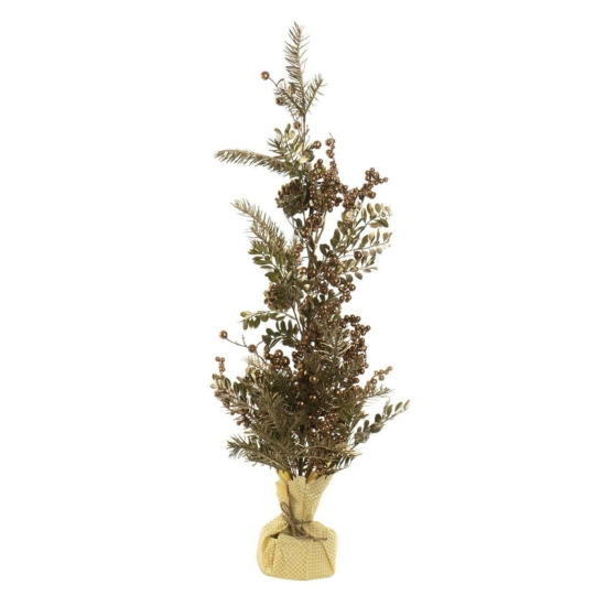 Karácsonyfa természetes tobozos 20x80 aranyozott zöld