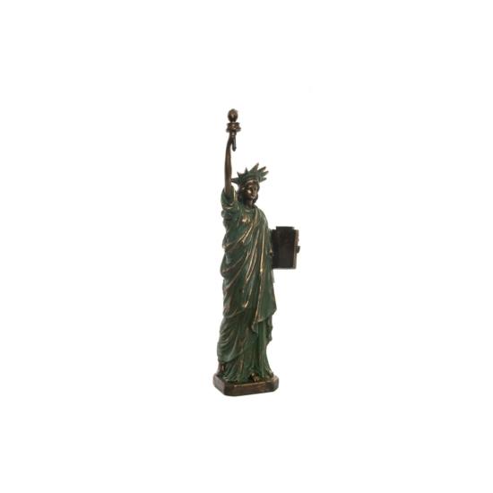 Figura műgyanta 15x10x48 szabadság szobor régies