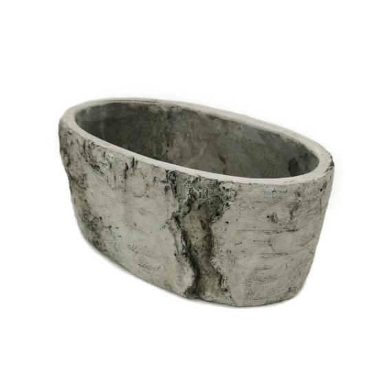 Ovális szürke cement kaspó