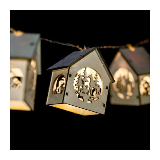 Házikós LED fényfüzér