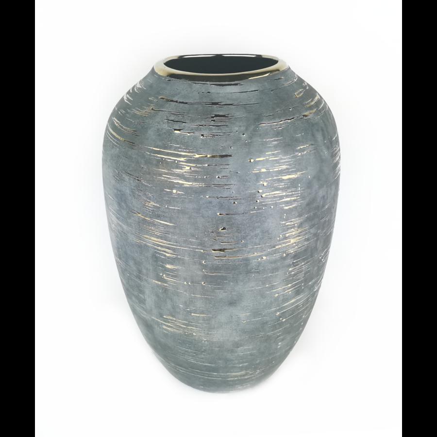 Kékesszürke váza arany mintával