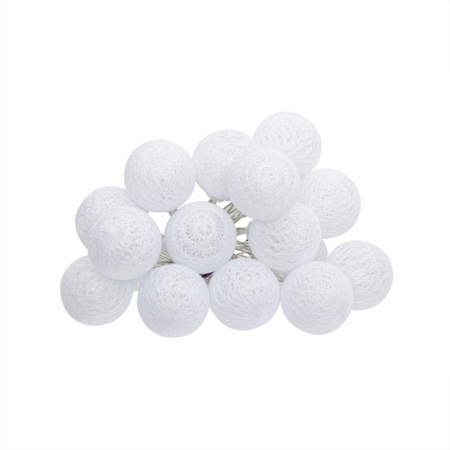 fehér 16 gömbös fényfüzér elemes LED
