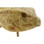 Kép 2/3 - Figura műgyanta fém 24,5x10x21 hal sárga