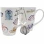 Kép 2/4 - Bögre teás szett porcelán 10,5x8x11 280 ml 2 féle