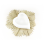 Kép 1/3 - szív alakú virágtartó fehér