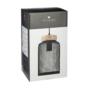 Kép 2/2 - fekete függő fém rácsos lámpa dobozban